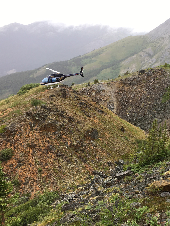 Helicopter charter near Whitehorse, Yukon.