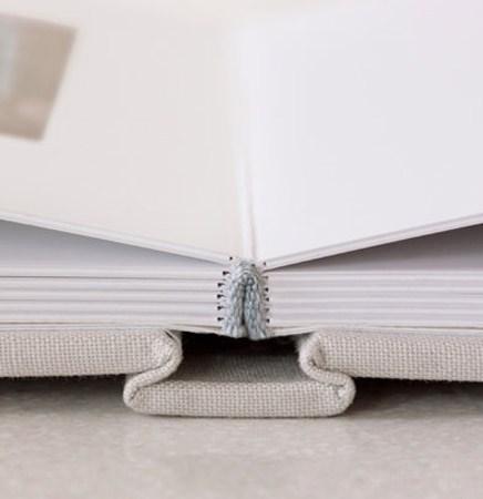 an empty open photo book