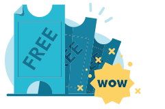 Free coupons vector