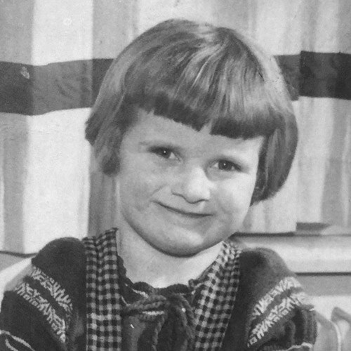 Maria Aarts as a child