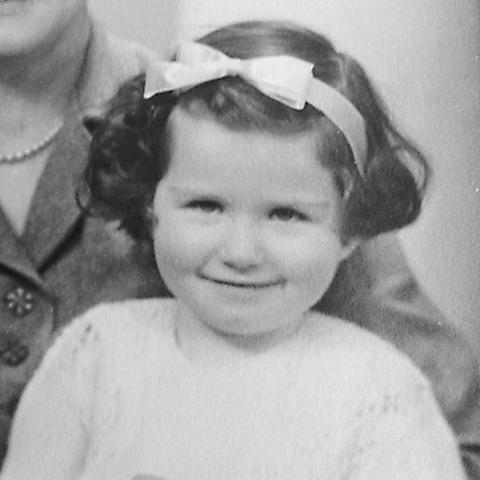 Dr Anne Meade as a child