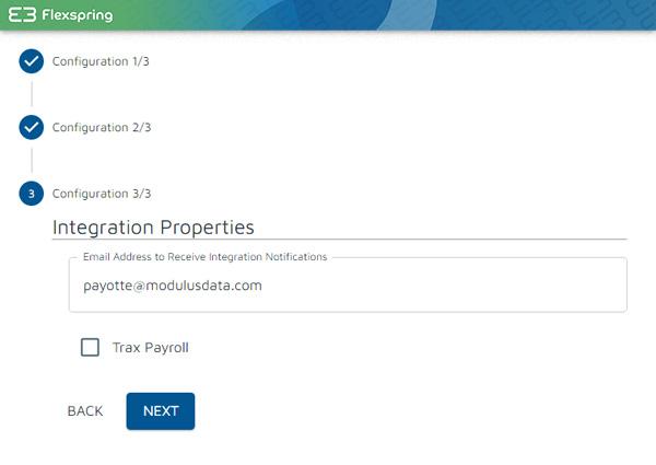 Contacto de Flexspring para la pantalla de notificaciones de errores
