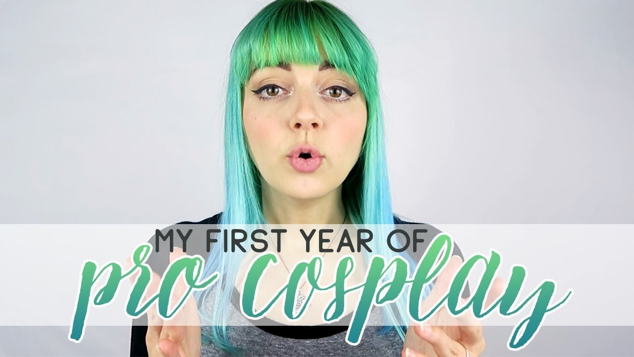 Thumbnail of woman in video explaining her first year as a professional cosplayer