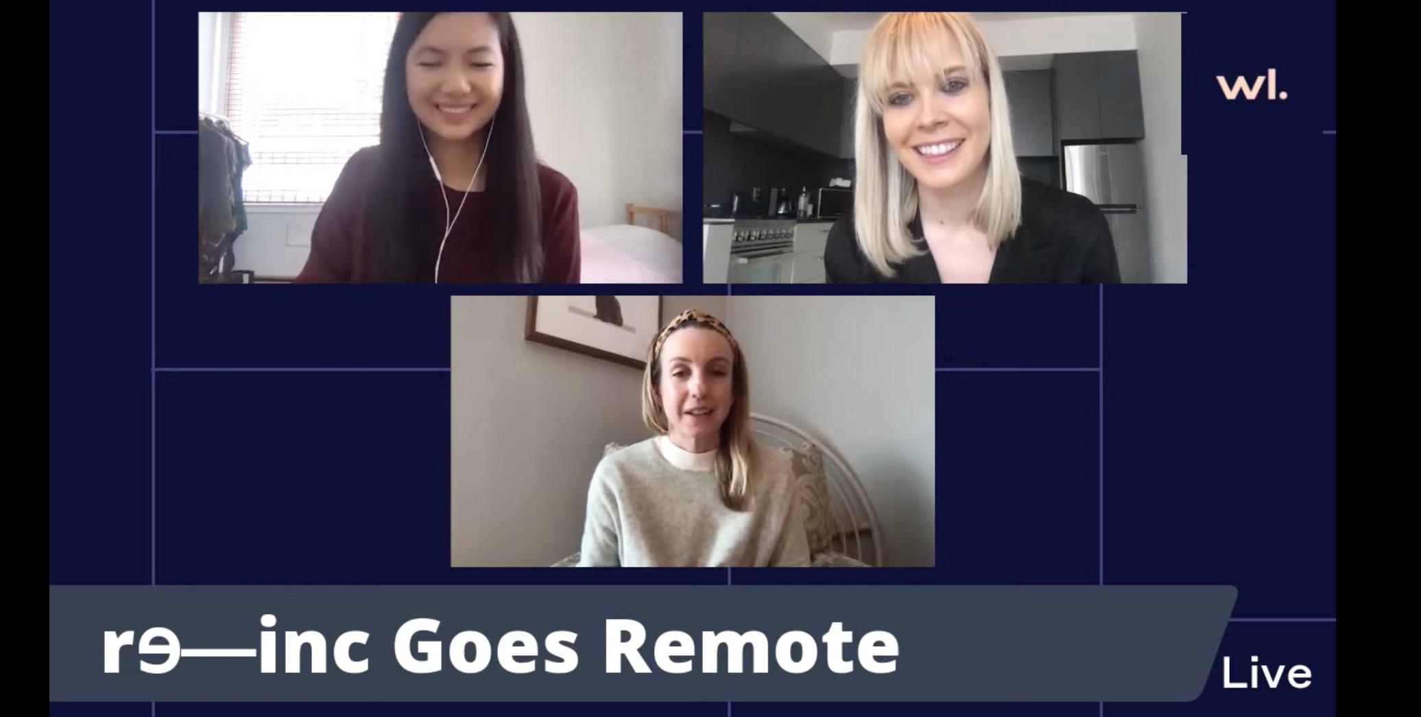 Brianne Kimmel and re-inc team video chat screenshot