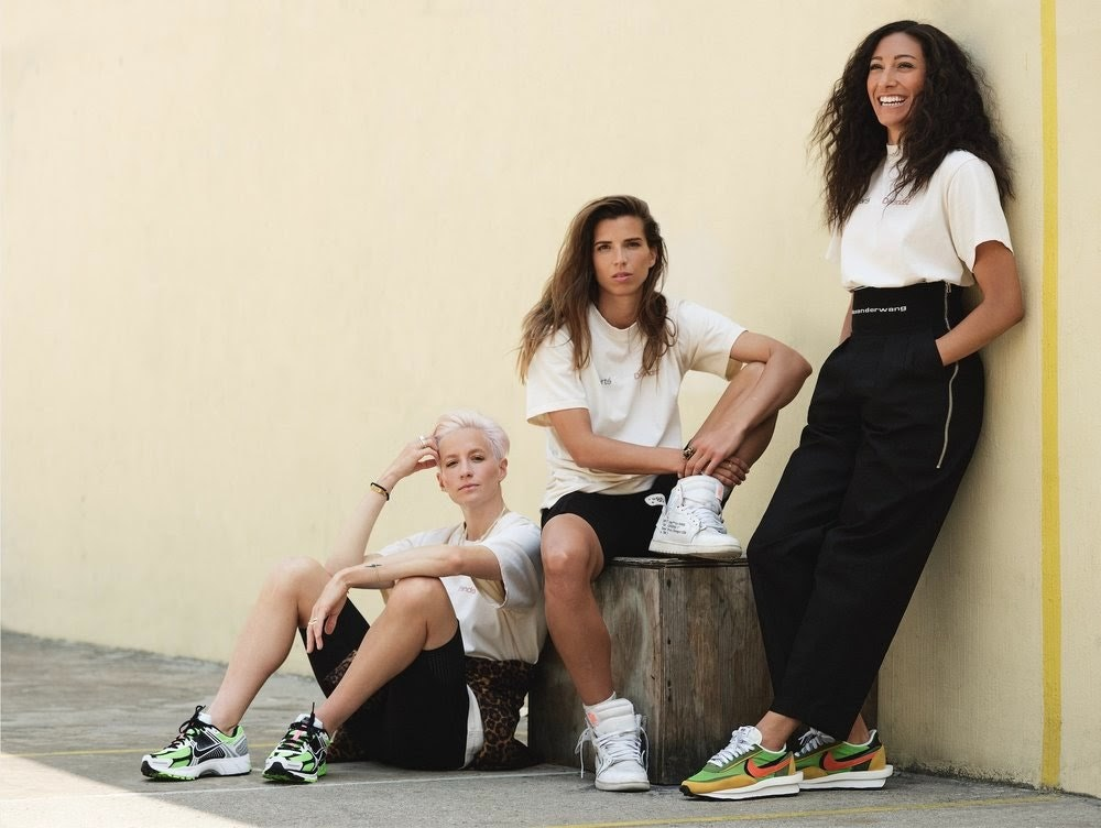 Megan Rapinoe and others wearing re-inc clothing
