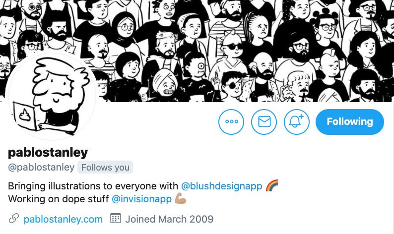 Screenshot of Pablo Stanley twitter account