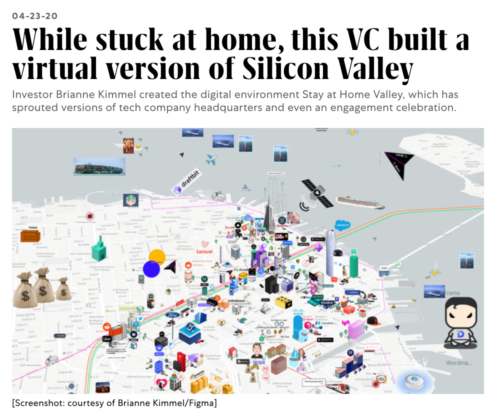 Screenshot of article about Stay at Home Valley