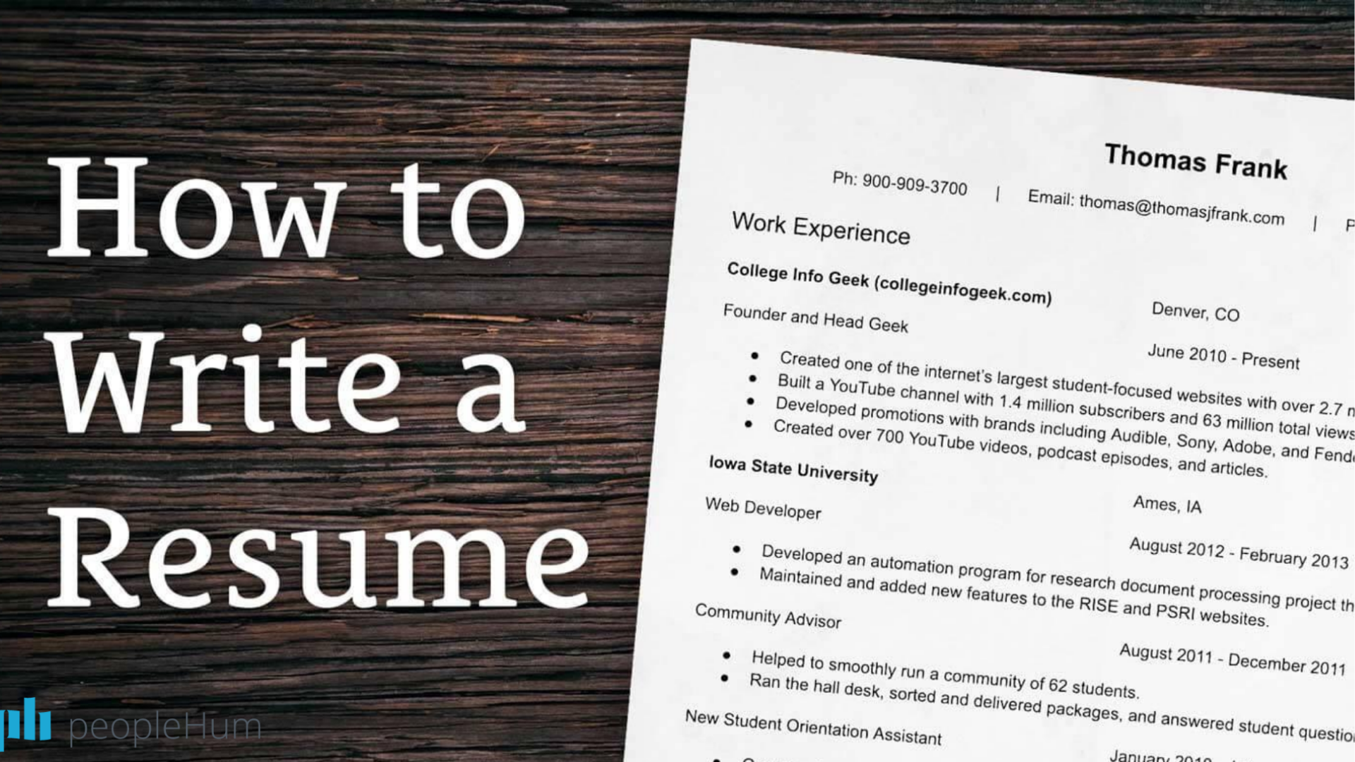 Hire Essential 10 - the art of writing a resume