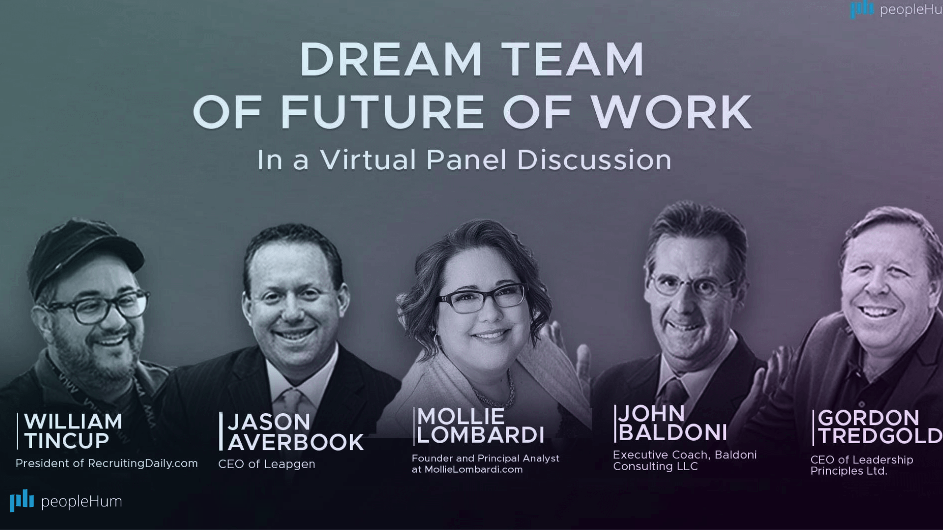 Dream team of future of work - In a virtual panel discussion