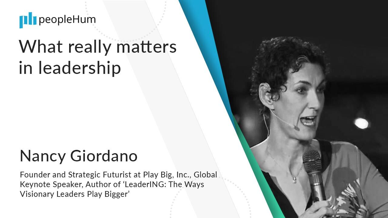 What really matters in leadership ft. Nancy Giordano peopleHum