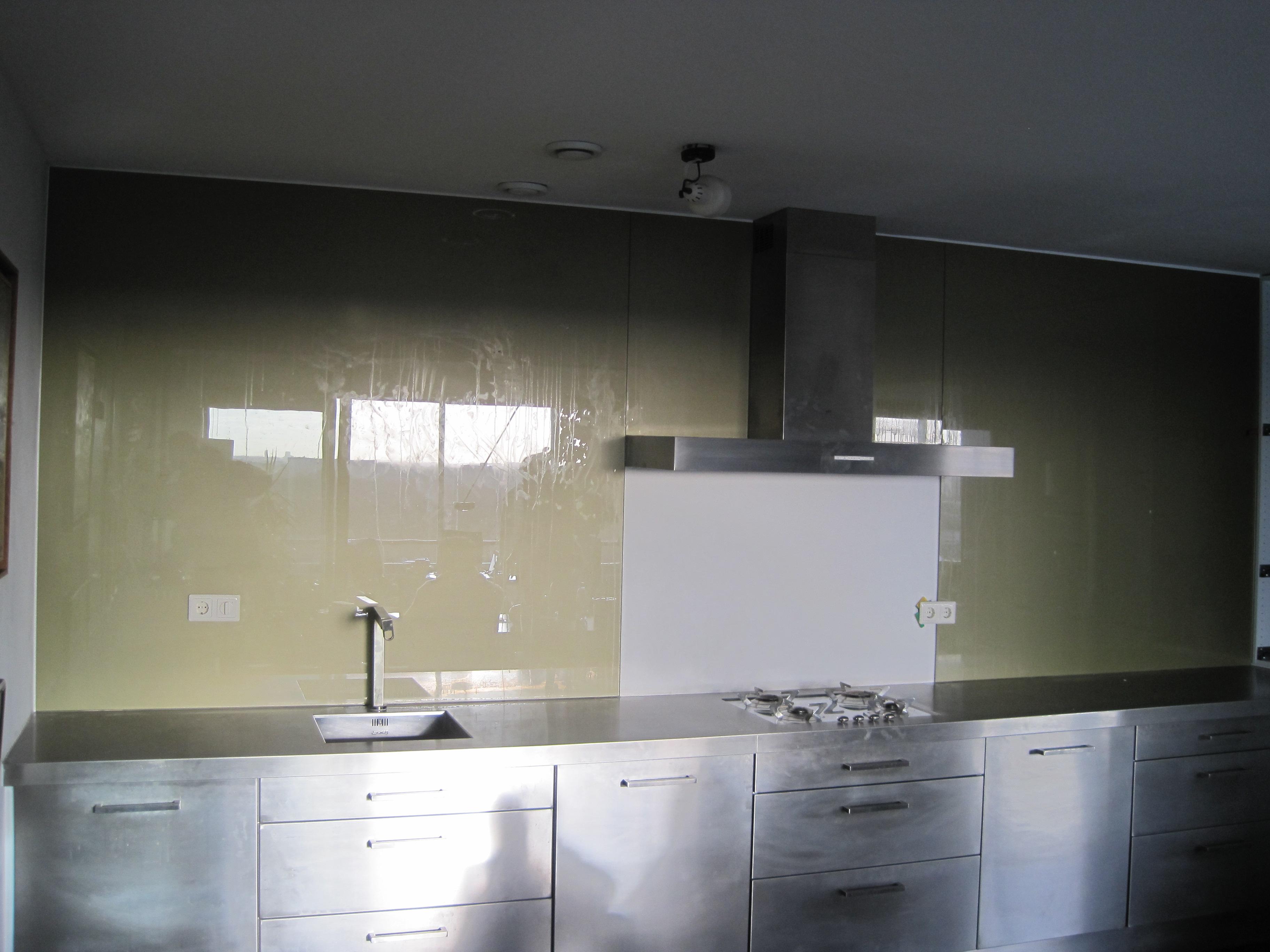 Glazen keuken achterwand