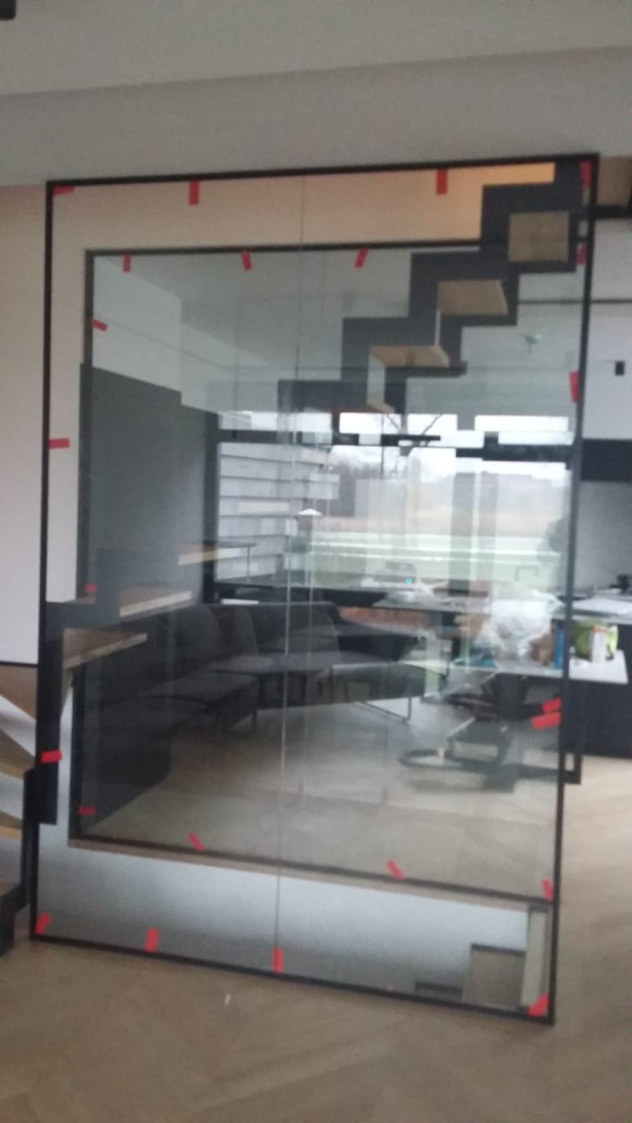 Afscheiding glas trap