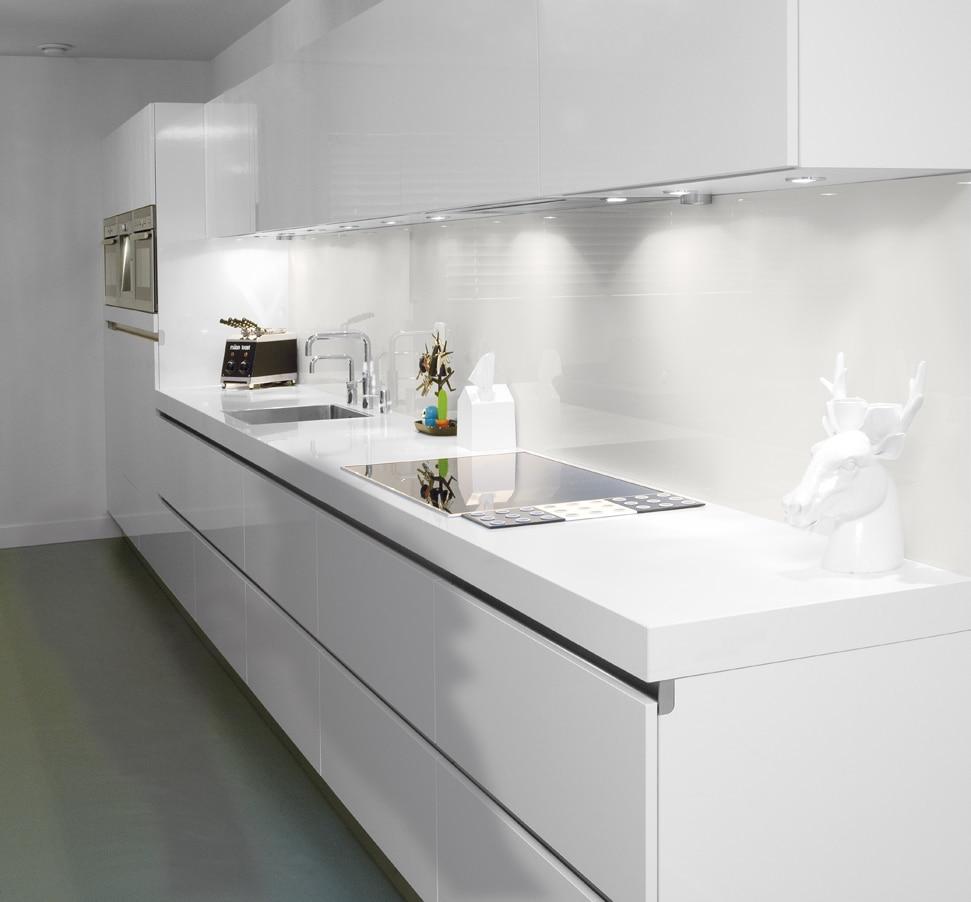 Glazen keukenwanden op maat