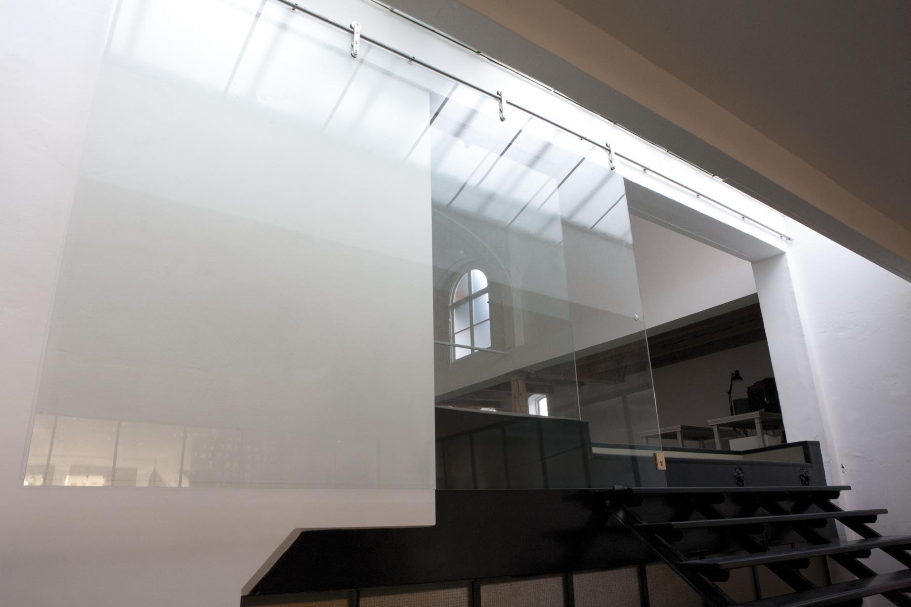 Schuifdeur van 3.30 breed van glas
