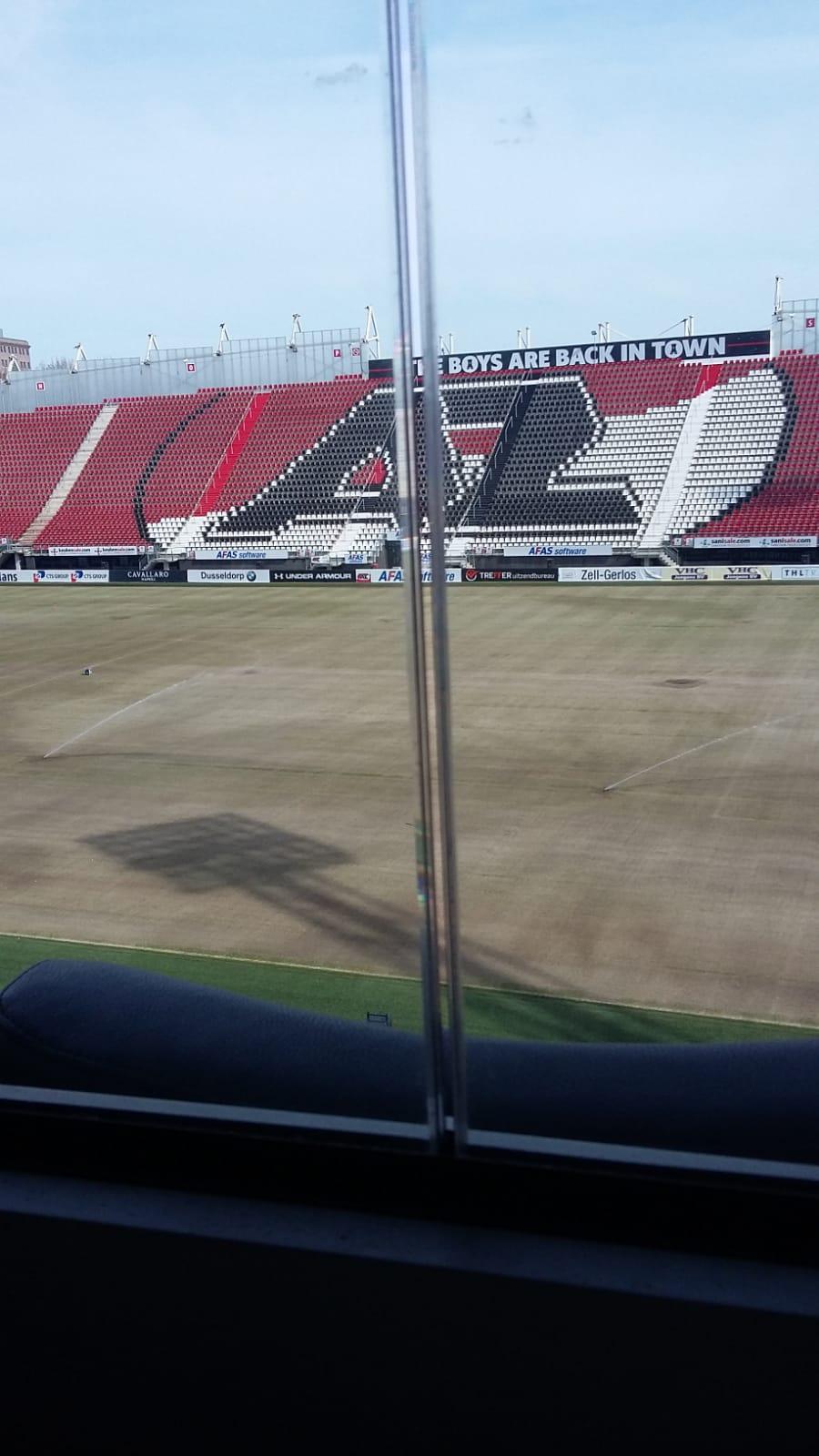 Balustrade glas AZ Stadion