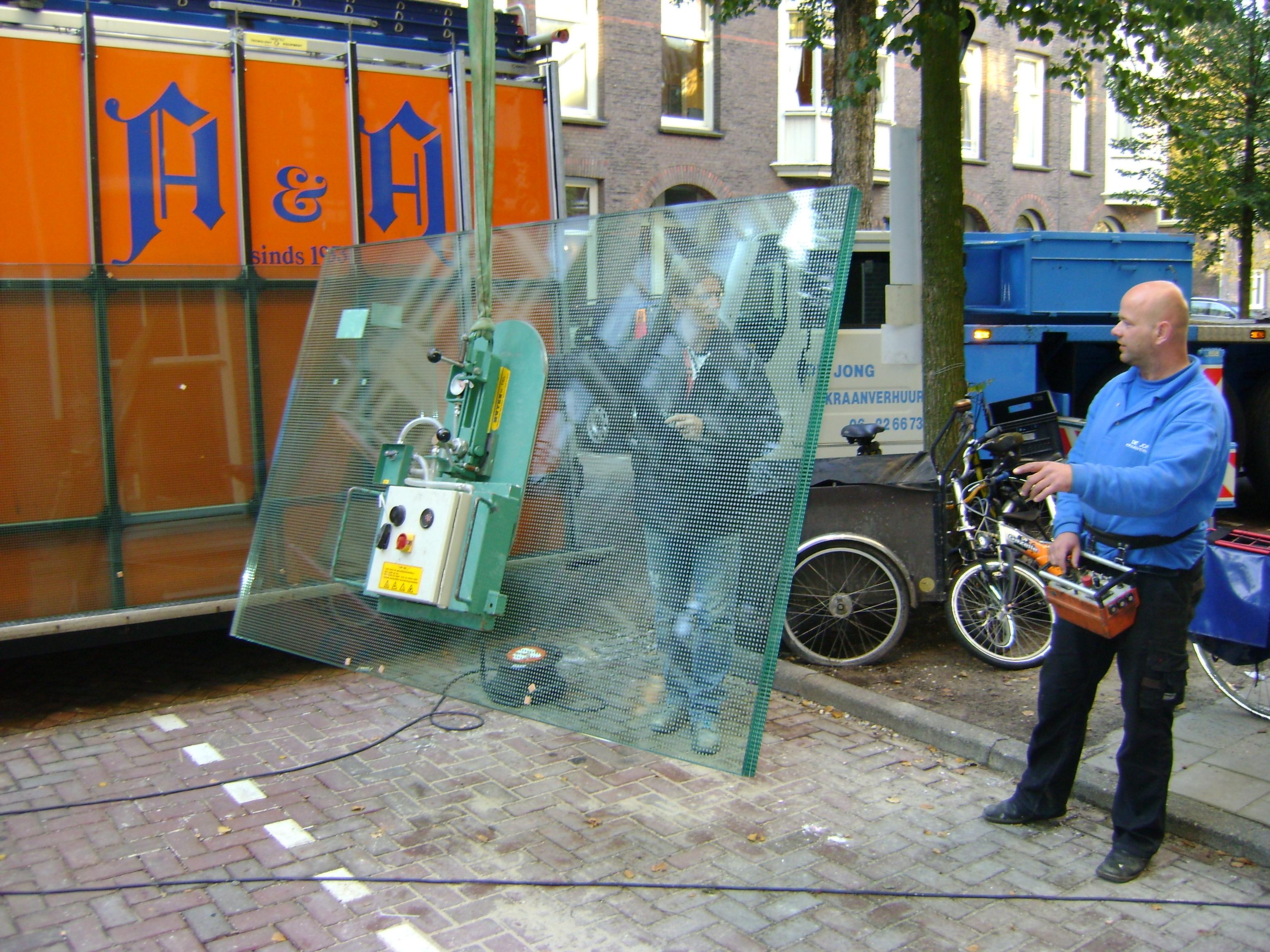 Beloopbaar glas monteren