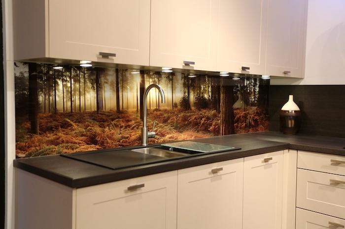 Keukenachterwand print met landschap