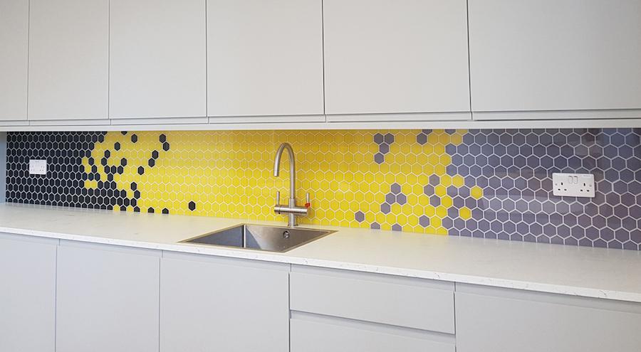 Achterwand keuken geprint met modern patroon