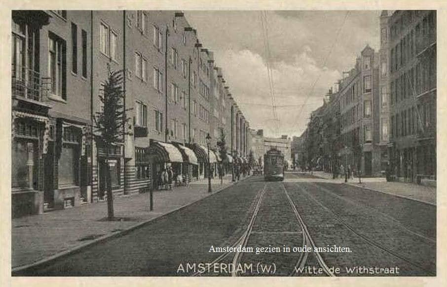 Oude ansichtkaart van de Witte de Withstraat