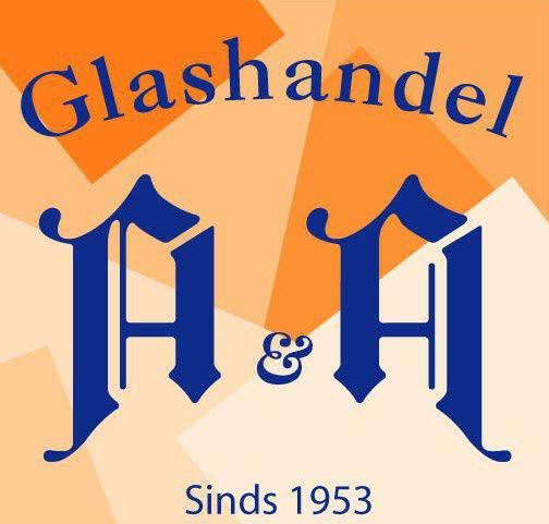 Het historische logo van AA Glas