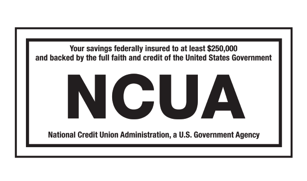Insured by the NCUA logo