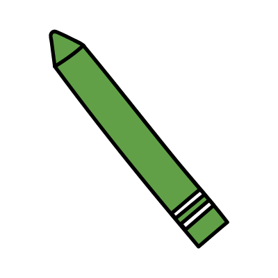 a green crayon