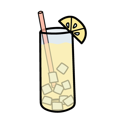 A tall glass of ice-cold lemonade