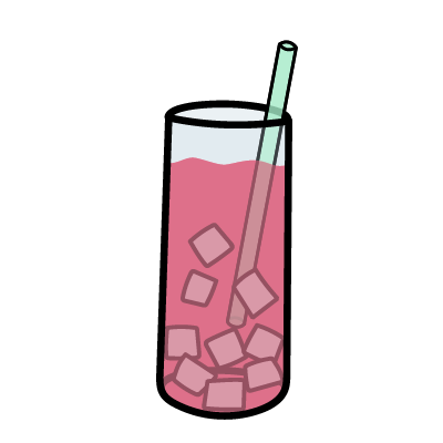 A tall glass of prickly pear iced tea