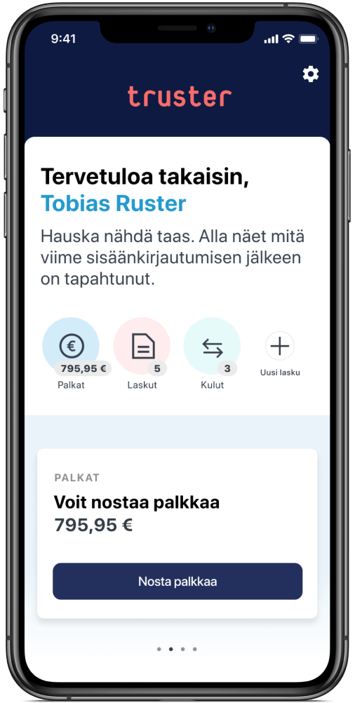 Truster app on Mobile