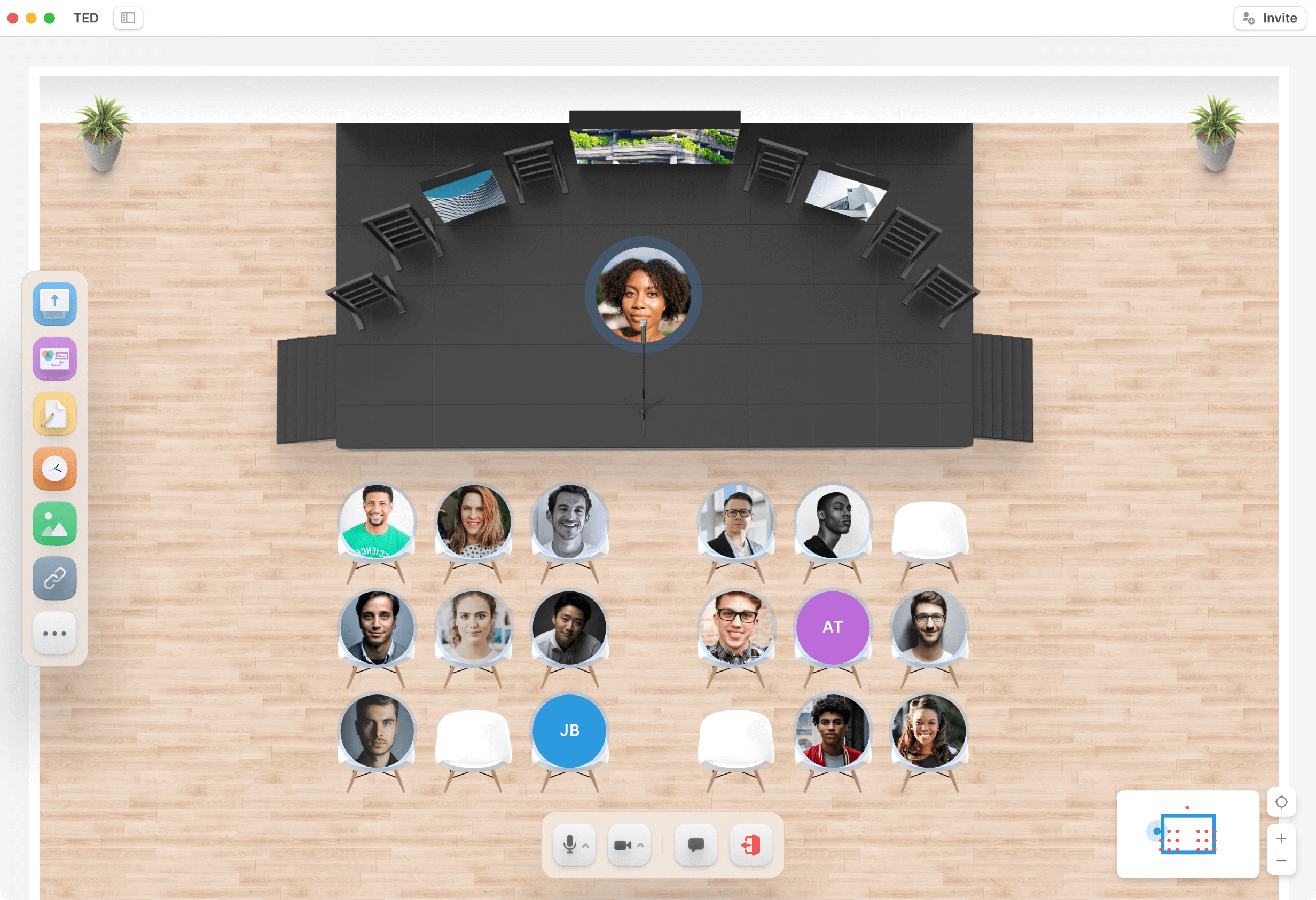 Conference panel discussion in Teamflow for Events.
