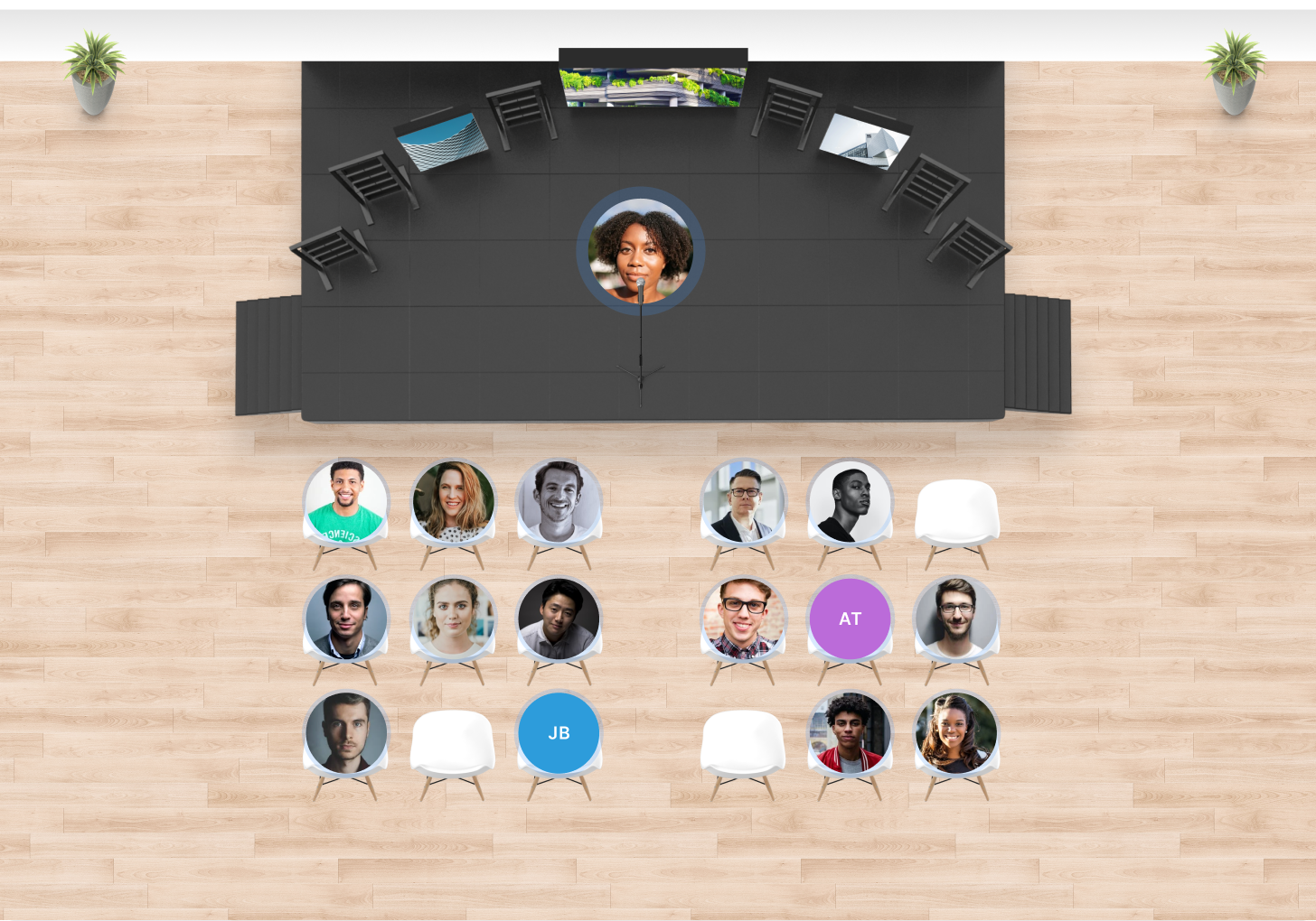 Hosting a virtual event in Teamflow