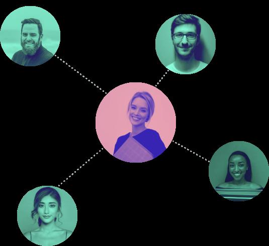 Teamflow Partner Program illustration showing the partner generating referrals.