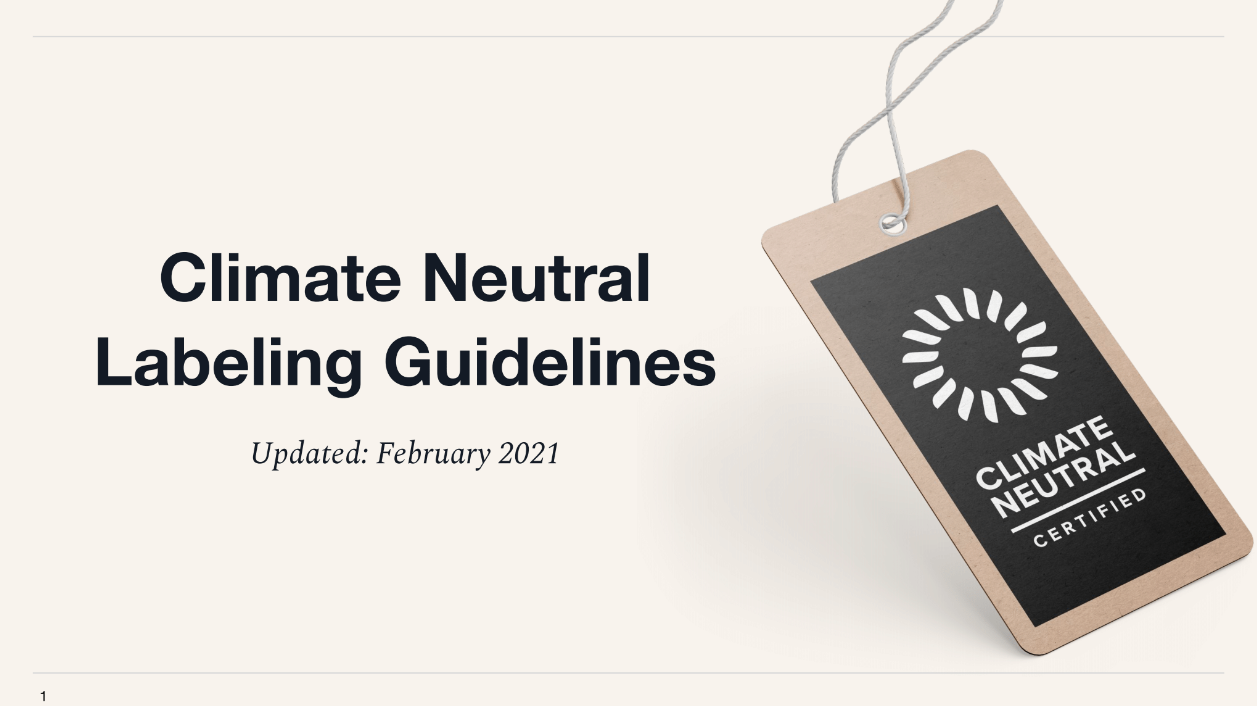 Climate Neutral Labeling Guidelines