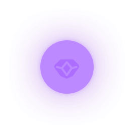 Purple Orb floating