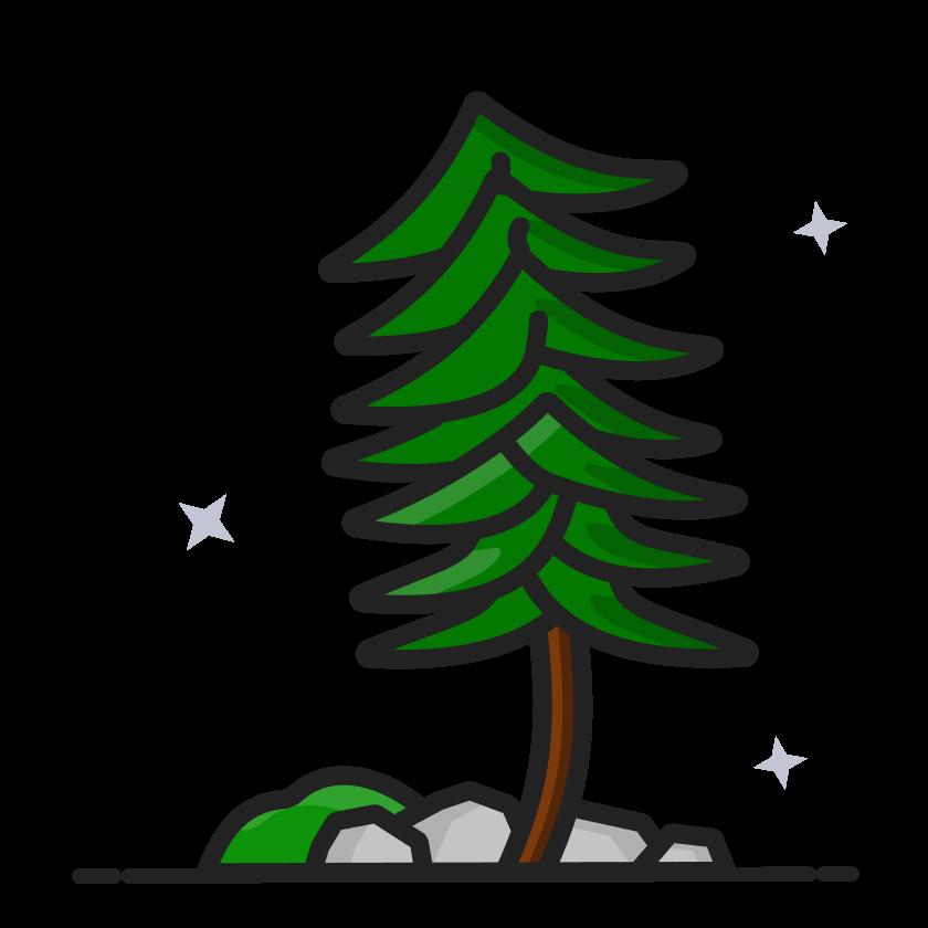 Illustration of a wild tree