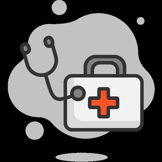 Illustration d'une trousse médicale