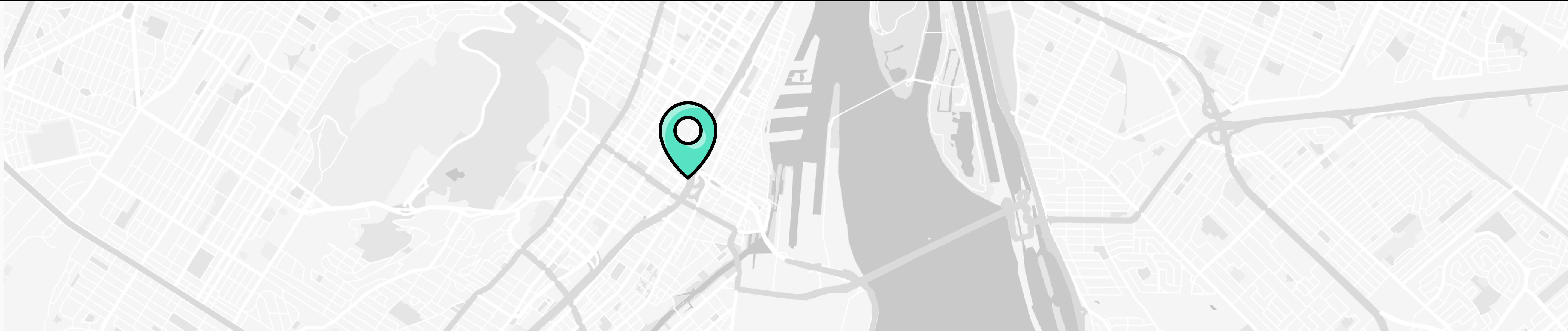Carte de Montréal avec une épingle sur l'emplacement du bureau de Mistplay