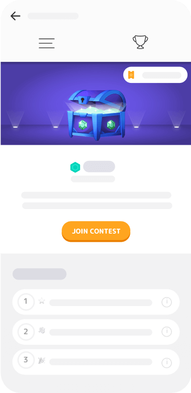 Mistplay interface, weekly contest page