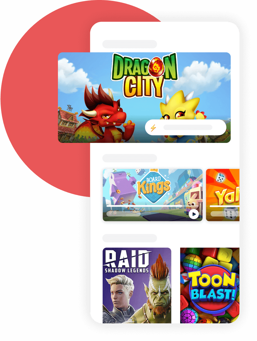 Design of the Mistplay app game library