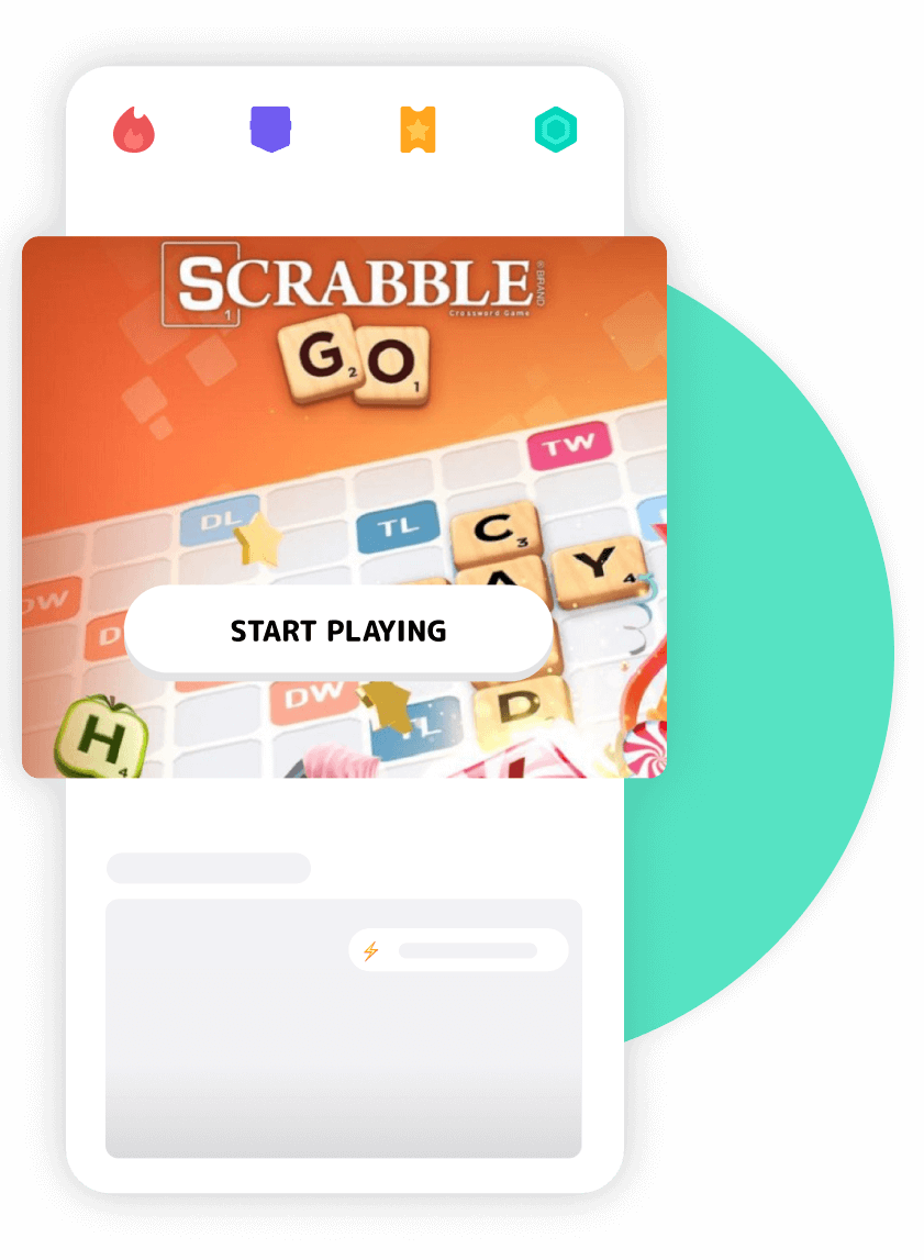 Design of the Mistplay app featured game
