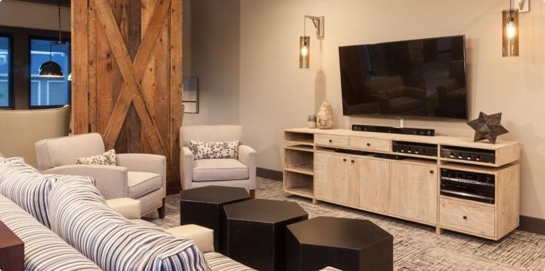 Living room in Tarragon multifamily unit