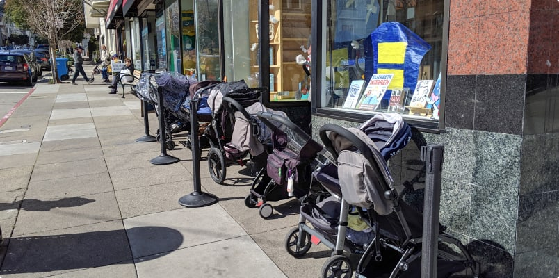 strollers by store