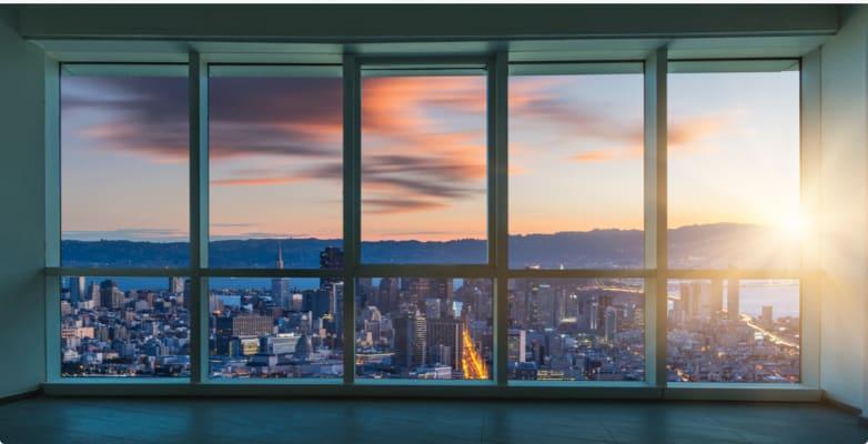 glassy tower windows