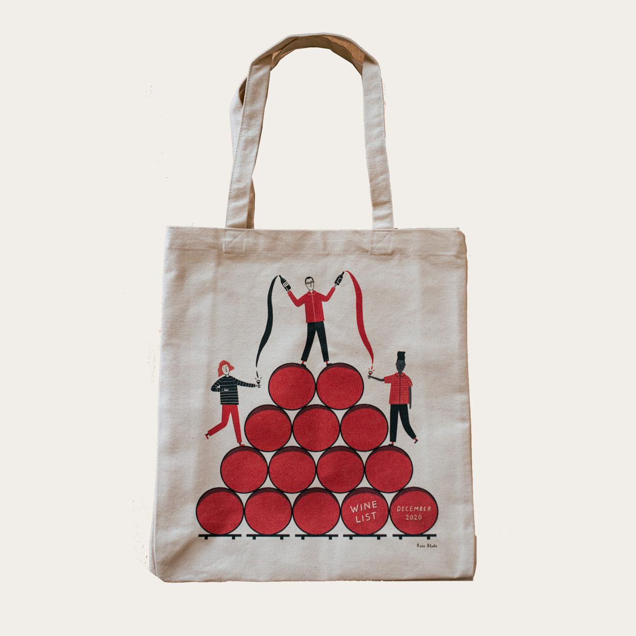 Rose Blake x Wine List Tote Bag