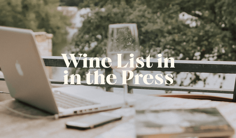 Wine List in the Press