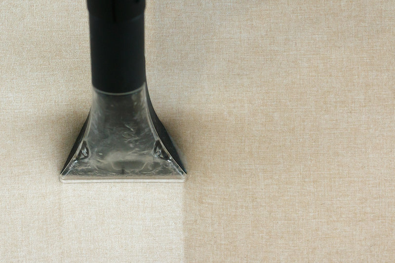 taking dirt out of fabric using a steam cleaner