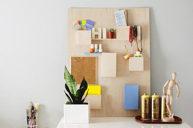 diy wall organizer