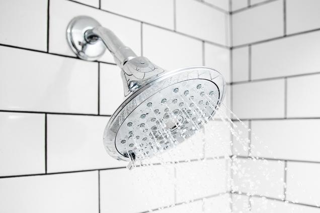 shower head switched on