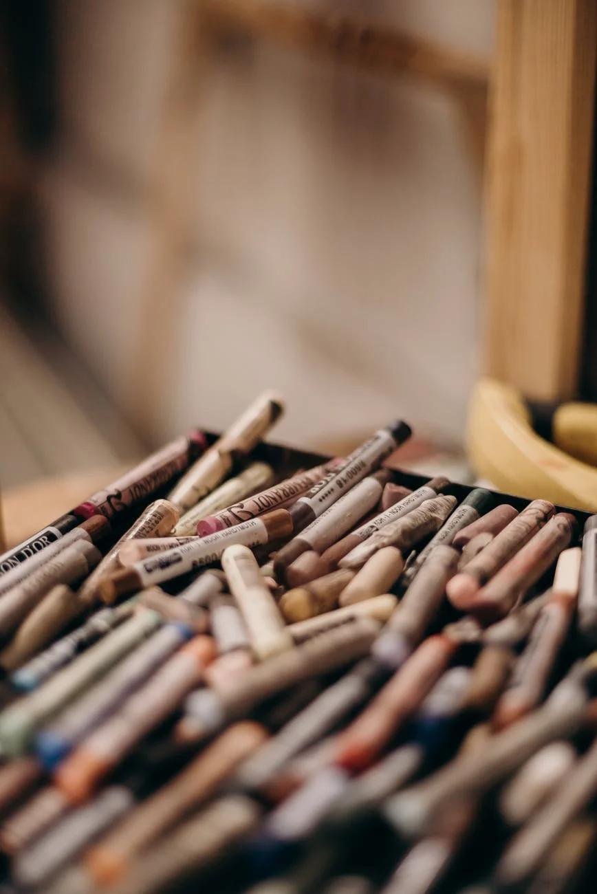 set of wax pencils