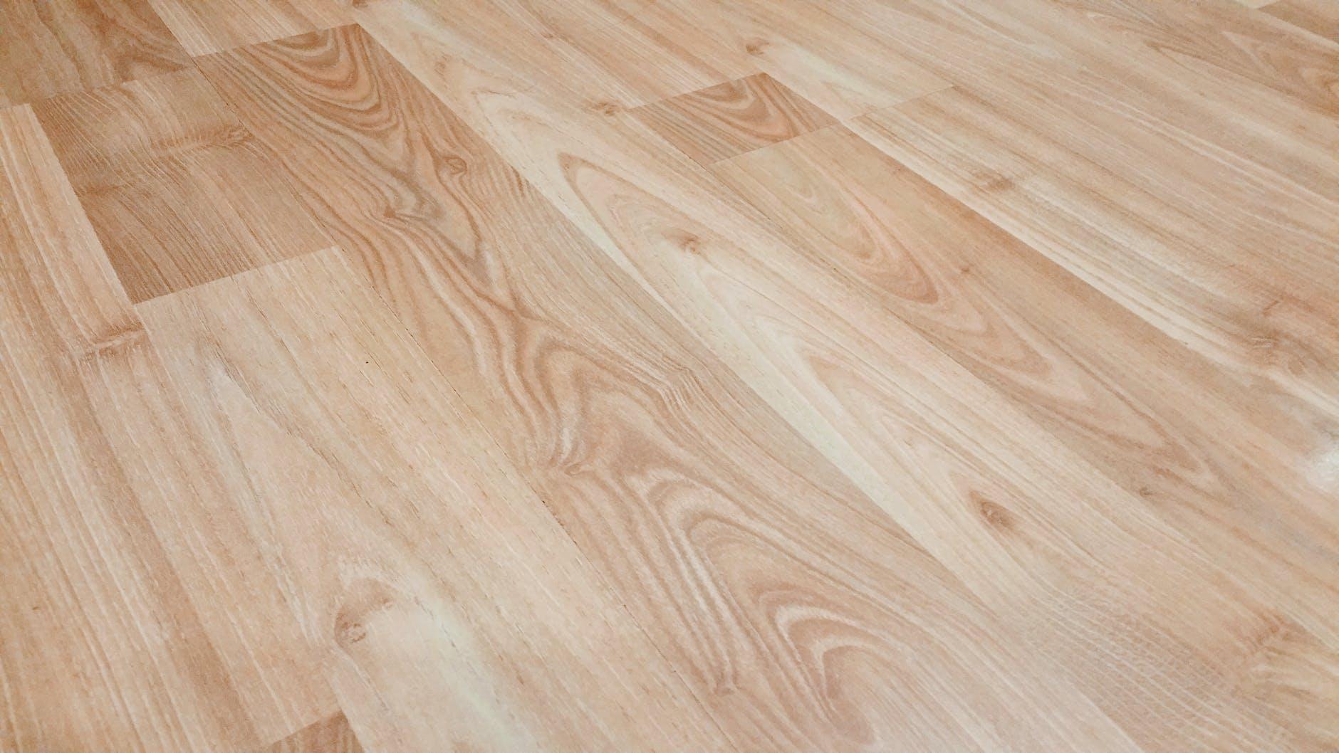 faux laminate wood planks on floor